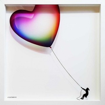 Balloon Heart on Glass - Limited Edition of 10