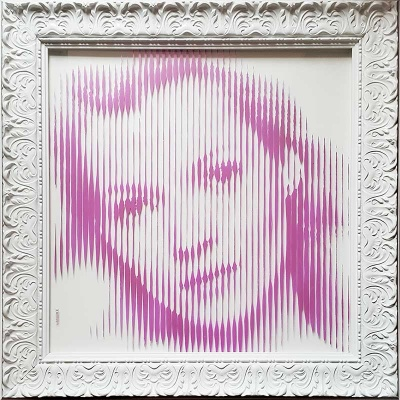 ORIGINAL Kate Moss Pink /Gold on Glass