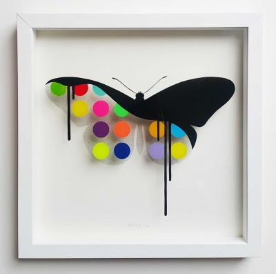 ORIGINAL - Glass Butterfly: Candy 34x34 cm