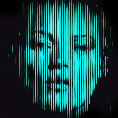 Kate Moss-Glow in the Dark Original on glass