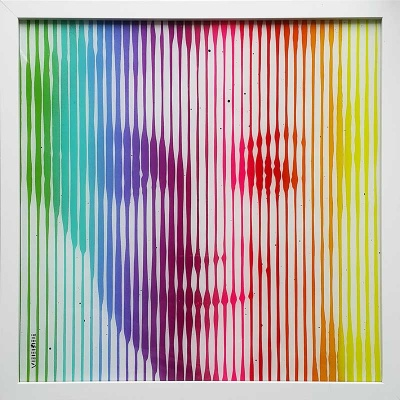 Original  On Glass Marilyn Monroe Rainbow 2