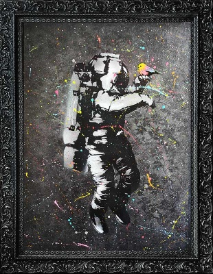 SOLD - ORIGINAL - Space Man Space Bird