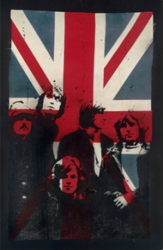 Pink Floyd On Vintage Union Jack
