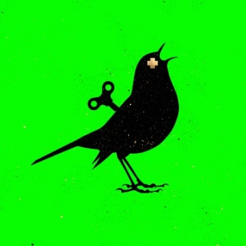 clockwork Bird - Acid Green