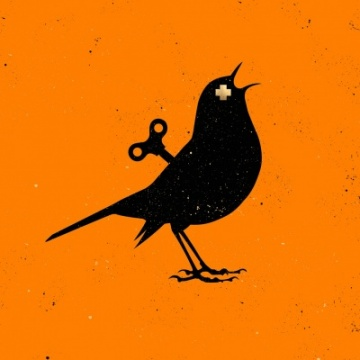 Clockwork Bird - NEON ORANGE