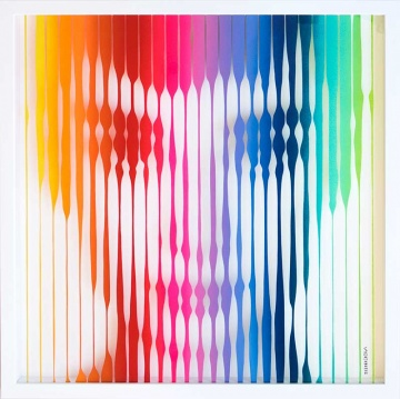 Audrey Hepburn (Rainbow) Original Painting on Glass