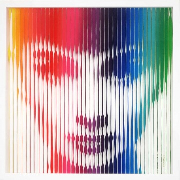Audrey Hepburn (Rainbow) Painting on Glass