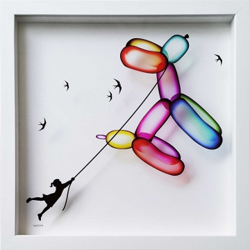 *** SOLD OUT *** Balloon Dog 4 Print on Glass TIMED EDITION