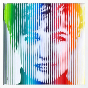 Princess Diana (Rainbow) Original Painting on Glass