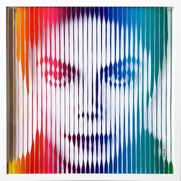 Michael Jackson (Rainbow) Original Painting on Glass