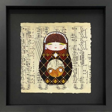 Russian doll Mixed Media Original