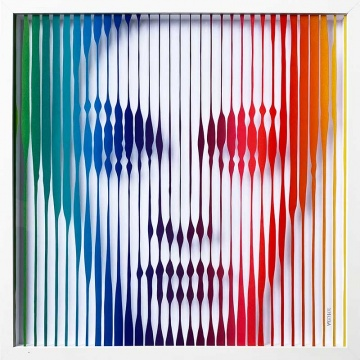Twiggy (Rainbow) Original Painting on Glass
