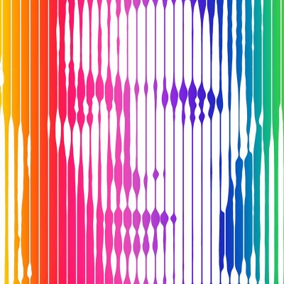 David Bowie (Rainbow) Signed Limited Edition Print 30x30cm