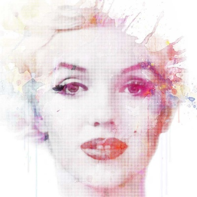 Marilyn Monroe in watercolour