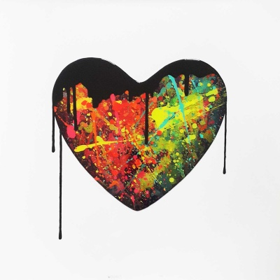 Original Resin Heart - Big splash