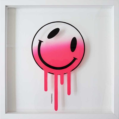 Melting Smiley (PINK) Sketch